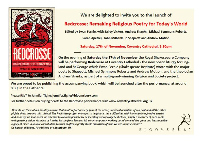 Redcrosse book launch invitation